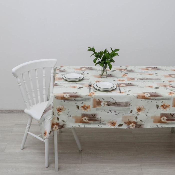 Клеёнка столовая на нетканой основе, ширина 137 см, толщина 0,08 мм, рулон 20 м - фото 493993