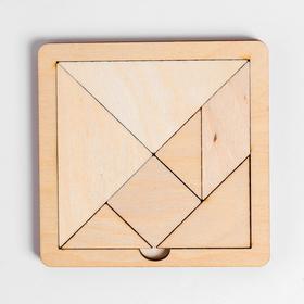 Игра головоломка деревянная «Танграм» (мал)