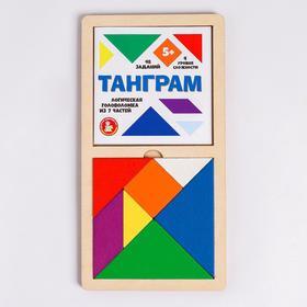 Игра головоломка деревянная «Танграм» (цв, бол)
