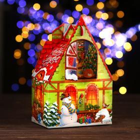 """A cardboard box """"Warm holiday"""", of 17.6 x 11.1 x 18.8 cm"""