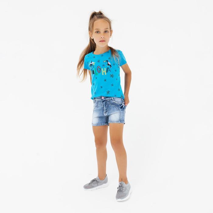 Шорты для девочки, цвет синий, рост 110 см - фото 76420784