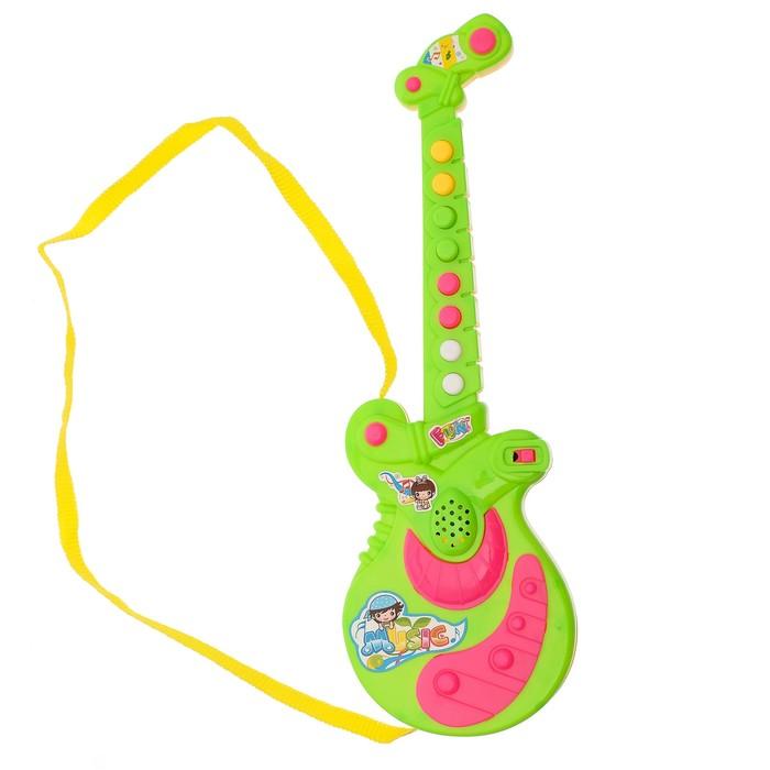"""Гитара """"Маленький музыкант"""", звуковые эффекты, работает от батареек, МИКС"""