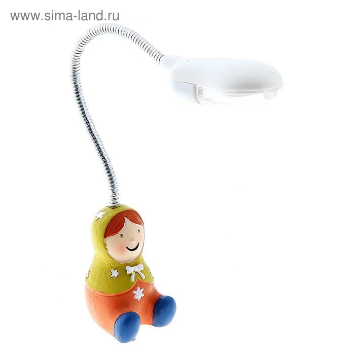 """Светильник детский LED """"Матрешка"""", зелёная"""