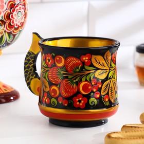 Beer mug, 0,4 l, 11h10 cm, Khokhloma