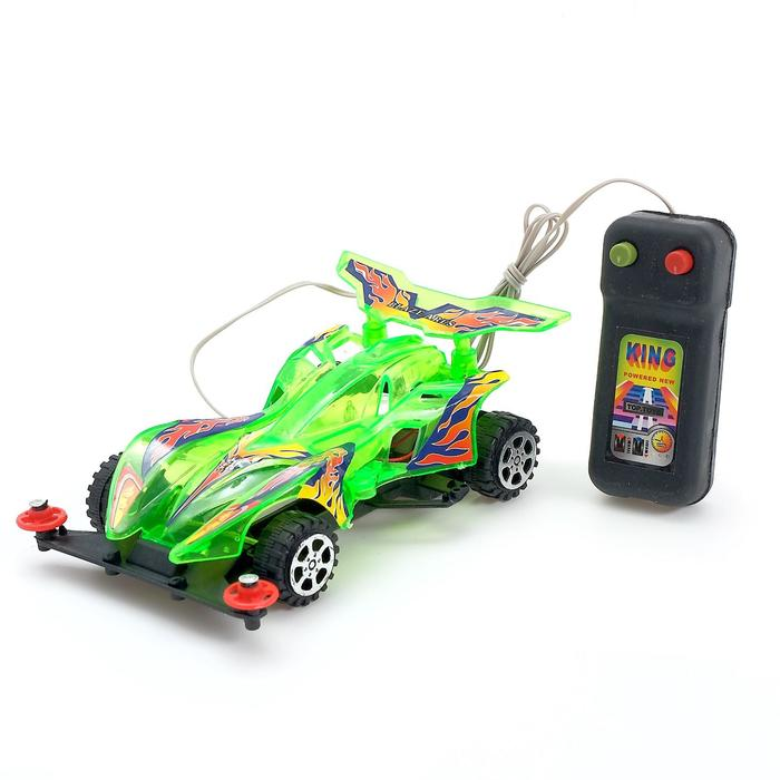 Машина «Гонка», на дистанционном управлении, работает от батареек, МИКС