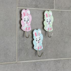 Набор крючков на липучке «Зайчик, оленёнок», 3 шт, рисунок МИКС