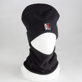 Комплект (шапка, снуд) детский, цвет чёрный, размер 54-56