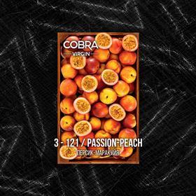 Бестабачная смесь для кальяна Сobra Virgin, Персик-маракуйя (Passion-Peach) 50 г