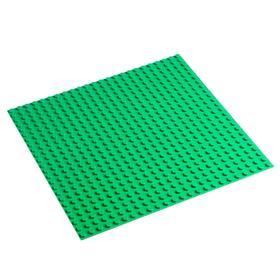 Пластина-основание для конструктора 38,5х38,5 см (диаметр 0,8 см), цвет зелёный