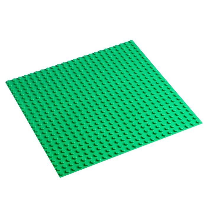 Пластина-основание для конструктора 38,5х38,5 см (диаметр 0,8 см), цвет зелёный - фото 76423559