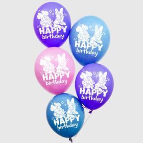 """Воздушные шары """"С Днем Рождения"""", Минни Маус, (набор 50 шт)"""