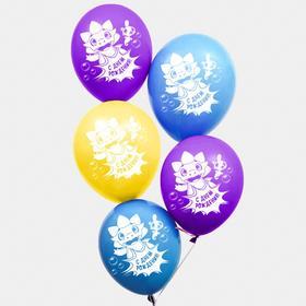 """Воздушные шары """"С Днем Рождения"""", Дракоша Тоша, (набор 25 шт)"""