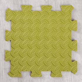 Развивающий коврик-пазл «Зелёный» 30х30х1 см