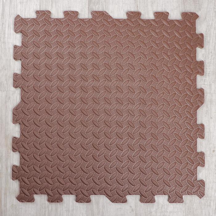 Развивающий коврик-пазл «Коричневый» 60х60х1 см