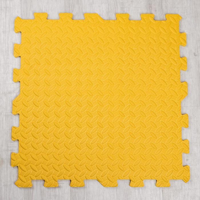 Развивающий коврик-пазл «Жёлтый», 60 × 60 × 1 см
