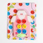 "Educational game lacing ""Sewn button"" 18х14х1 cm"