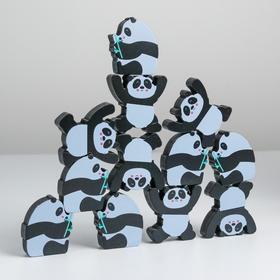 Развивающая игра балансир «Панды» 35х23х2 см