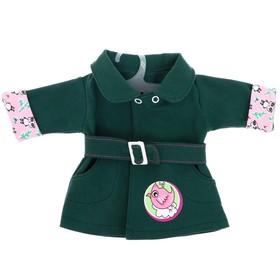 Одежда для кукол «Плащик джинсовый»