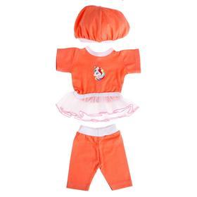 Одежда для кукол «Платье с лосинами и беретом»