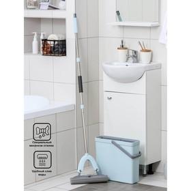 Набор для уборки: швабра ПВА, ведро для полоскания 11 л - фото 1709523