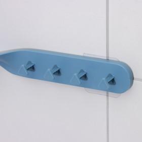 Держатель для ванных принадлежностей на липучке «Решение», 41×7×4,5 см, цвет МИКС