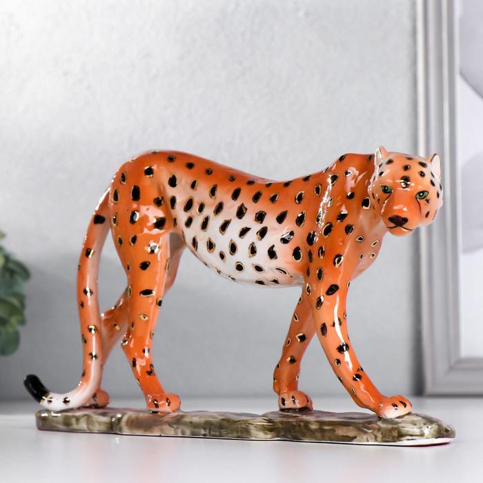 """Сувенир керамика """"Гепард"""" 15х26,8х5,2 см"""