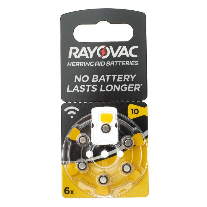 Батарейка цинковая Rayovac Acoustic, ZA-10 (PR70, DA230)-6BL, 1.45В, блистер, 6 шт.