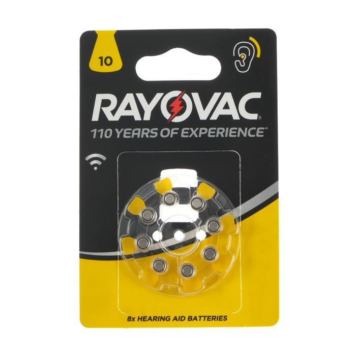 Батарейка цинковая Varta Rayovac Acoustic, ZA-10 (PR70, DA230)-8BL, 1.4В, блистер, 8 шт.