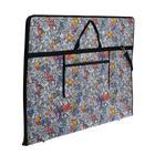 """Папка А1 с ручками, текстиль, 920 х 680 х 40 мм """"Вдохновение"""", с карманом """"Граффити"""" - фото 749853"""