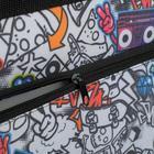 """Папка А1 с ручками, текстиль, 920 х 680 х 40 мм """"Вдохновение"""", с карманом """"Граффити"""" - фото 749858"""