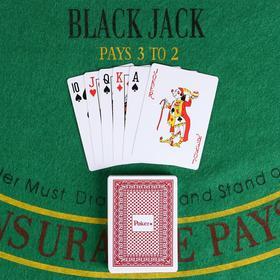 """Cards for poker """"Poker"""" plastic 32 mm, 54 PCs, 6.5x9 cm"""