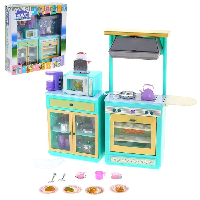 """Набор мебели """"Кухня"""" со световыми и звуковыми эффектами, работает от батареек"""