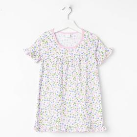 Сорочка для девочки, цвет светло-розовый, рост 104 см (4 года)