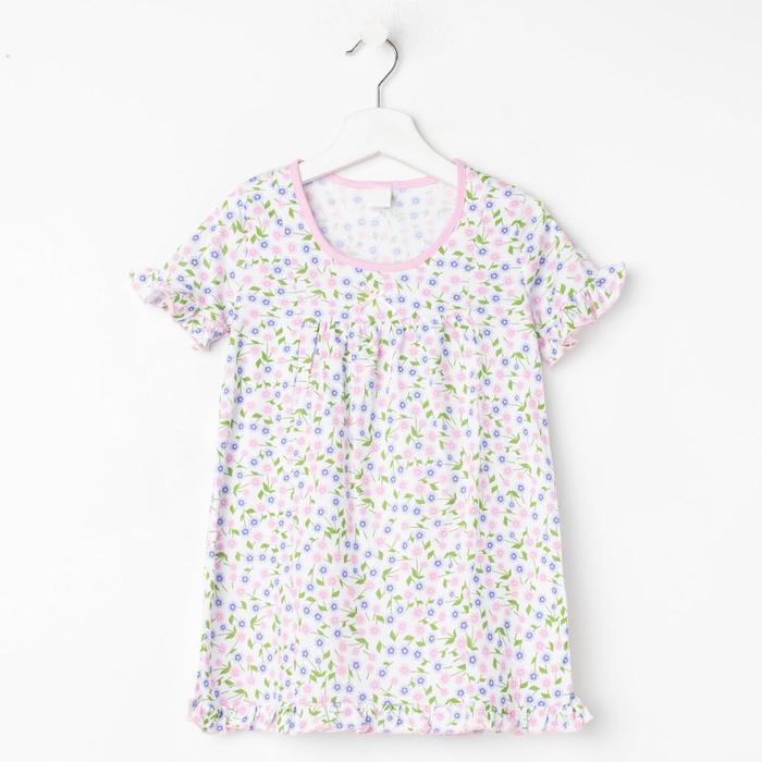 Сорочка для девочки, цвет светло-розовый, рост 92 см (2 года) - фото 2027036