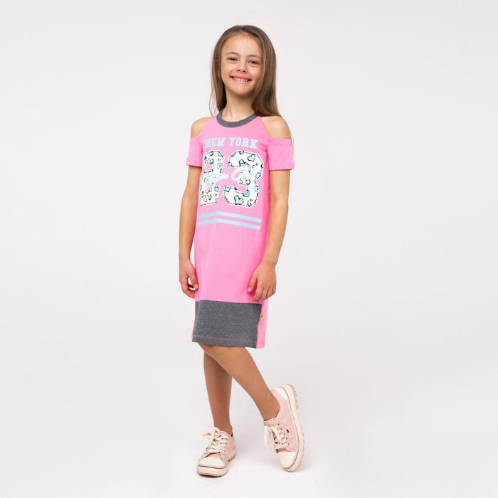 Сорочка для девочек, цвет розовый, рост 128 см (8л) - фото 76428346