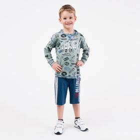 Шорты для мальчика, цвет джинс, рост 110 см (5 лет)
