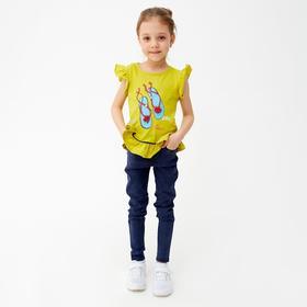 Футболка для девочки, цвет оливковый, рост 98 см (3 года)