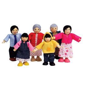 Набор мини-кукол «Счастливая азиатская семья»
