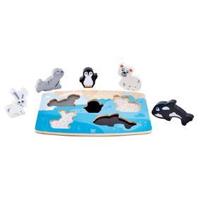 Тактильная головоломка «Арктические животные»