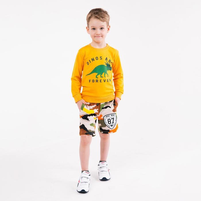 Шорты для мальчика Mini Maxi, цвет бежевый, рост 122 см - фото 105482905