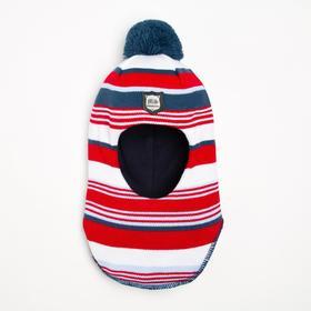 Шлем-капор детский, цвет красный, размер 44-46