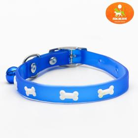 Dog collar with glow in the dark bones, 30 x 1 cm, mix colors