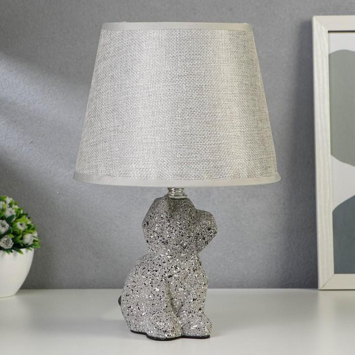 Лампа настольная 21161/1 E14 40Вт серый 20х20х34 см - фото 7931790