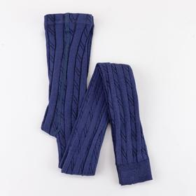 Children's terry leggings, jeans color, height 122-128 cm