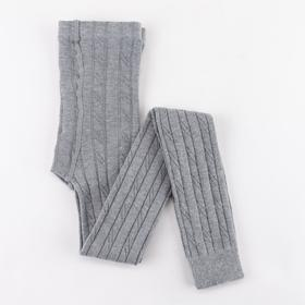 Children's terry leggings, gray, height 134-140 cm