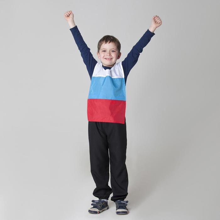 Жилет триколор «Россия» с водоотталкивающей пропиткой, уголок триколор, рост 134-146 см