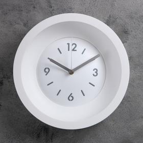 """Часы настенные """"Классика"""", d=25.4, ход плавный, без стекла, белые"""
