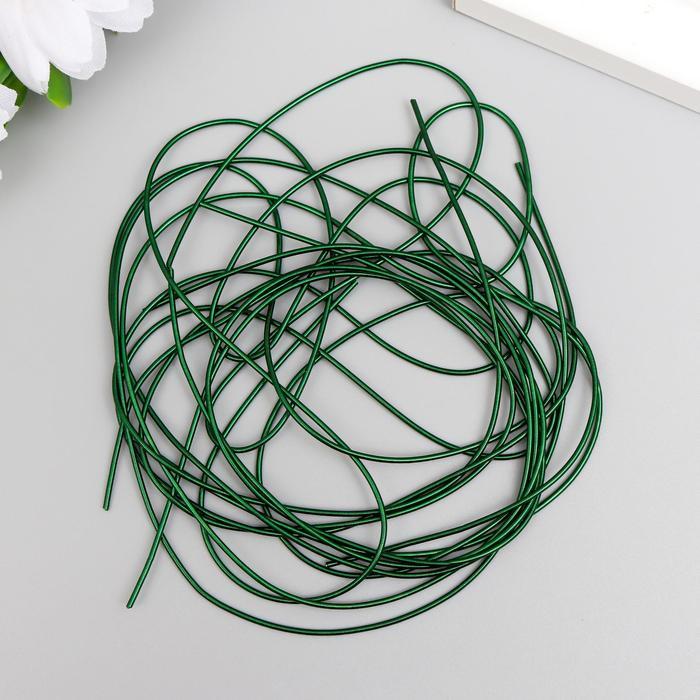 Канитель мягкая, гладкая 0,7 мм, глянец, темная трава 5 гр - фото 282124007