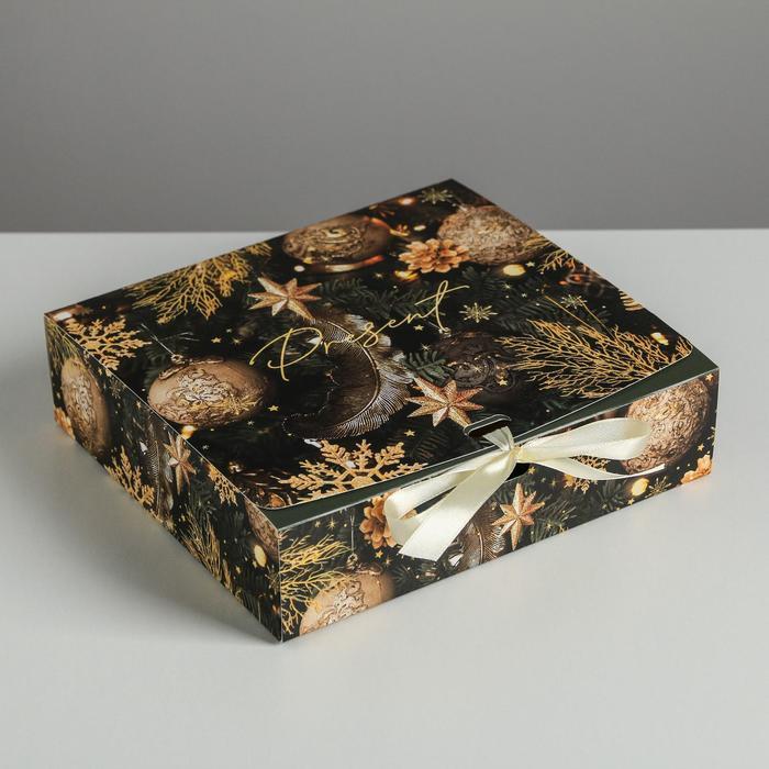 Складная коробка подарочная «Сказочного нового года», 20 × 18 × 5 см