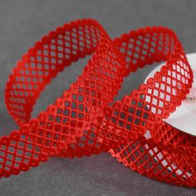 Curly tape 25mm * 10 ± 1yard diamonds carved red AU